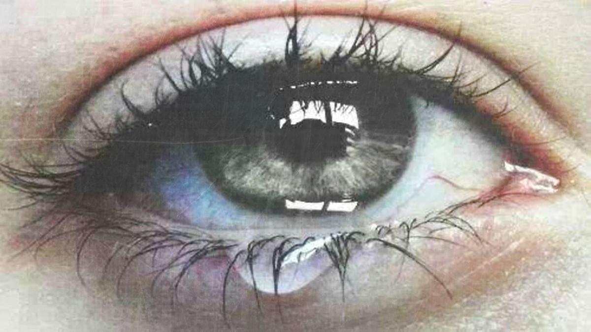 Sobre lágrimas que se suicidan en los labios